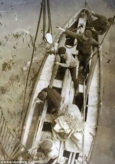*THE TITANIC's LAST LIFEBOAT ~ The Titanic's last lifeboat: Amazing photos show vessel containing three rotting bodies - including a man still in his dinner jacket - which was found by passing liner a month later and 200 miles away │Daily Mail News