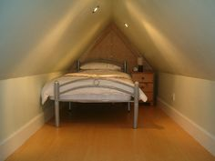 very small attic room