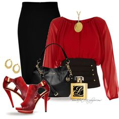 * In The Red *, created by hrfost1210 on Polyvore