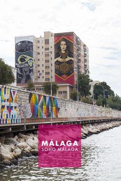Soho Málaga - Een kleurrijke wijk in Málaga vol streetart. Ook het museum voor hedendaagse kunst is te vinden deze wijk. Een boeiend (gratis) museum met regelmatig nieuwe exposities. Soho Malaga, Malaga City, Andalucia, Travel List, Big Ben, Madrid, Places To Go, Road Trip, Wanderlust