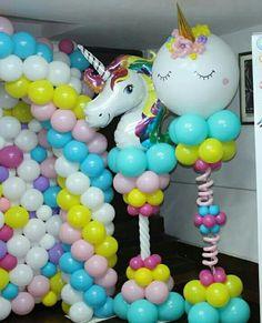 Resultado de imagen para how to make balloon chair sculpture Balloon Stands, Balloon Display, Balloon Decorations, Birthday Party Decorations, Birthday Candy, Unicorn Birthday Parties, Birthday Balloons, Unicorn Party, Unicorn Balloon