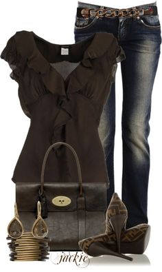 """Pumps and Denim"" by jackie22 on Polyvore"