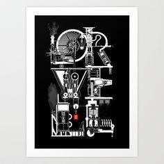 George Orwell 1984 Art Print by Monika Kovacs - $20.00