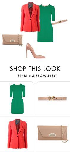 """verde,beige.."" by anna-esenova on Polyvore featuring moda, Dolce&Gabbana, Gucci, Emilio Pucci e Christian Louboutin"