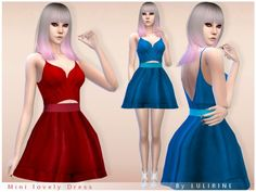 The Sims Resource: Short lovely dress by LULIRINE • Sims 4 Downloads  Check more at http://sims4downloads.net/the-sims-resource-short-lovely-dress-by-lulirine/