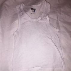 Cropped white beater Size / medium Tops Muscle Tees
