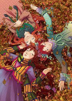 """Dans ce monde féerique le village est gardé par un vieux chêne qui parle ; les pouvoirs magiques ne se transmettent que d'oncles et tantes à neveux et nièces ; les sorcières ne révèlent leur pouvoir qu'à l'arrivée de leurs premières prémolaires et ses enfants """"magiques"""" sont gardés par des fées nounous #FairyOak"""