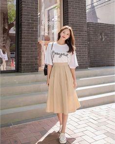 Korean Girl Fashion, Korean Fashion Trends, Korean Street Fashion, Ulzzang Fashion, Korea Fashion, Cute Fashion, 90s Fashion, Petite Fashion, Korean Fashion Summer