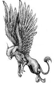 The Griffin will be below the dragon and raven also prepared  for battle with the name Tara under it