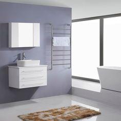 Virtu USA Ivy 32-inch White Single Sink Stone Top Vanity Set