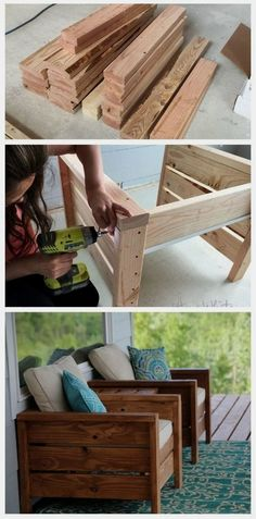 Summer projects I can't wait to build for us to enjoy outside on our deck, table, planter, sofa, grill station, outdoor furniture, do it yourself, diy #LandscapingDIY