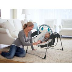 Graco Glider Lite Baby Swing Finch