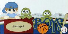 2 12x4 5 Premade Borders Boys Their Toys Paper Piecing Albums DANDERSON651 | eBay