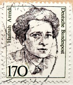 great stamp Germany 170pf. (Hannah Arendt, 14th October 1906 - 4th Dec. 1975) portrait philosopher philosoph germany stamp postes timbres allemagne
