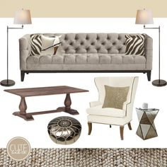 Living Room Design by Cute & Co.