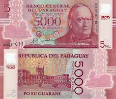 5,000 Guaranies Paraguay 2011