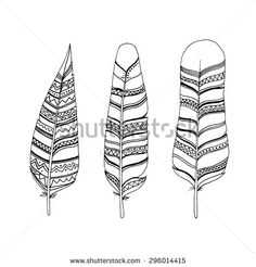 different feather drawing styles - Google Search
