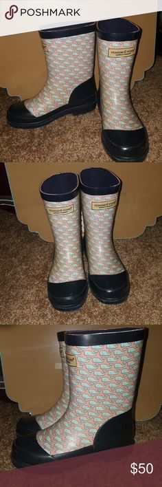 Vineyard Vines Kids Boots Brand: Vineyard Vines Size: 12 Color: Navy Blue, Teal, Pink Style: Rain Boot  OBO-OFFERS ACCEPTED Buyers can expect: Careful packaging, Fast shipping, & Delivery confirmation with each item purchased! PET FREE HOME & SMOKE-FREE HOME. Please note: Due to lighting and monitors, the items colours may be slightly differ with the picture. Vineyard Vines Shoes Rain & Snow Boots