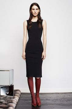 LBD + brown boots. Altuzarra | Pre-Fall 2014 Collection | Style.com