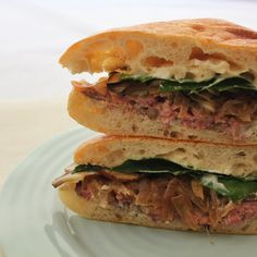 This sandwich is a delicious combination of tender meat, horseradish spread, and crunchy French bread #nationalsandwichmonth