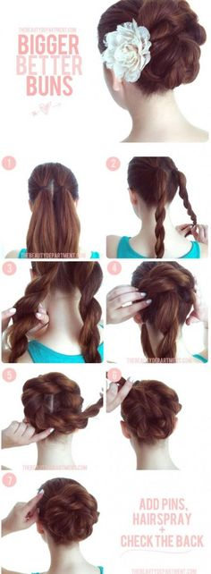 What an easy upstyle to do! Great for long hair