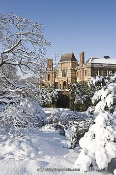 Eltham Palace in snow, London