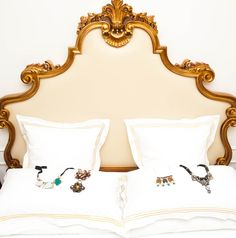 French country headboard.