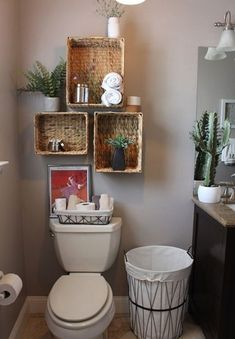 Smart And Easy Bathroom Storage Ideas Simple and rustic decor for the guest bathroom. - Smart And Easy Bathroom Storage Ideas Simple and rustic decor for the guest bathroom. Small Bathroom Storage, Simple Bathroom, Storage Spaces, Storage Organization, Smart Storage, Master Bathroom, Bathroom Plants, Cabinet Storage, Storage Shelves