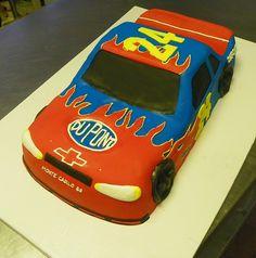 Jeff Gordon Race Car Cake by Wild Orchid Baking Co., via Flickr