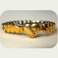 Sweetheart Bracelet. Gold Filled, Art Deco Childs / Womans