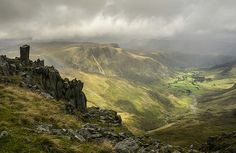 Crinkle Crags, Langdale Pikes, Langdale, Lake District, Cumbria, England