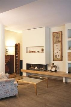 Scandinavian Fireplace Design Ideas, Pictures, Remodel and Decor