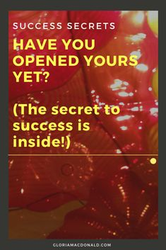 Have you opened yours yet?  Your heart that is.  Because that's possibly the biggest part of the secret to success.  I've been having a lot of conversations over the past several days with people who were at the same conference for Network Marketers I was.  Just like with so many other conferences...
