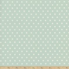 Rhapsody BeBop Dot Cotton Fabric - Blue by Beverlys.com