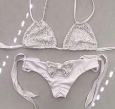 Bride-to-be sequin bikini (back view)