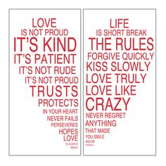 2 Piece Love is Kind Wall Art Set