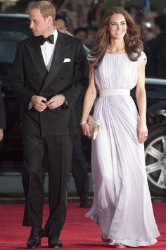 Catherine in Alexander McQueen pleated dress