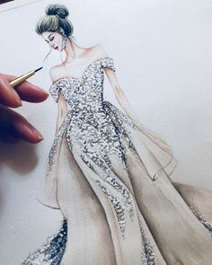Dress Design Drawing, Dress Design Sketches, Fashion Design Sketchbook, Dress Drawing, Fashion Design Drawings, Fashion Sketches, Dress Illustration, Fashion Illustration Dresses, Fashion Painting