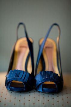Blue Wedding Shoes  Photo by:  Jennifer Davis Photography