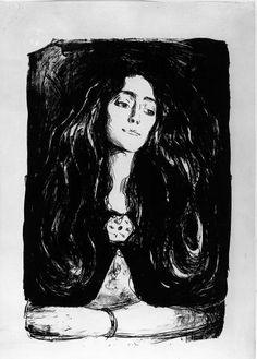 Edvard Munch, The Brooch, Eva Mudocci, 1903, Lithograph