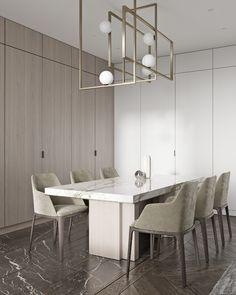"TOL'KO / ""RICE FLAT"" Archive project 2018 on Behance Gray Interior, Classic Interior, Contemporary Interior, Modern Interior Design, Kitchen Interior, Interior Design Living Room, Interior Architecture, Living Room Designs, Kitchen Decor"
