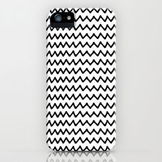 BLCK AND WHITE ZIGZAG iPhone & iPod Case