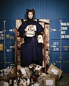 Super Dogs Meet Super Models, Vogue Korea January 2014