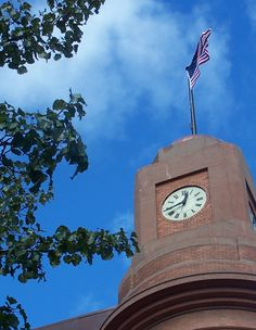 Clock Tower on Bank in Downtown Traverse City, MI