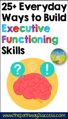 Over 25 everyday ways to build executive functioning skills! Teachers, parents, and counselors can use these strategies to help kids and teens build skills for organization, self-control, perseverance, attention, and more. Working Memory, Executive Functioning, Student Success, Building For Kids, Study Skills, Self Control, Help Kids, Time Management, Adhd