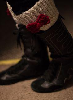 Boot cuff topper free crochet pattern