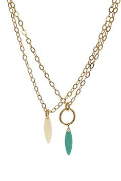 Jami Rodriguez  Aqua & White Necklace Set
