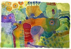 Watercolour postcard 4 by juju vail, via Flickr. http://www.flickr.com/photos/17122320@N00/2254217799/in/faves-25621291@N03/