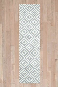 Inverted Diamond 2x8 Rug in Grey - Urban Outfitters