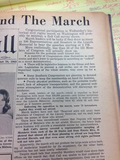Capitol Hill and The March, Roll Call, Aug. 28, 1963